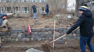 Bauarbeiten am Gelände